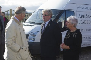 HRH Prince Charles visits Ark Stained Glass