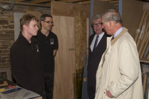 HRH Prince Charles with Bryan Paveley, London Manager, and our apprentice