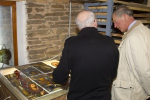 HRH Prince Charles speaking with painter